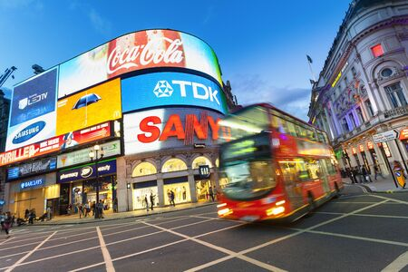 Europe, United Kingdom, England, London, Piccadilly Circus by Night