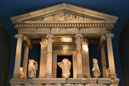 Europe, UK, England, London, British Museum, East Facade of Reconstructed Nereid Monument Editorial