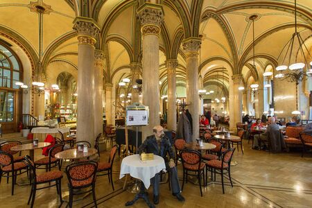 The famous Cafe Central is located in the Palais Ferstel