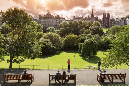 Princes Street Gardens, Edinburgh. Scotland