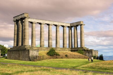 Pillars of national monument, Edinburgh, Scotland, United Kingdom