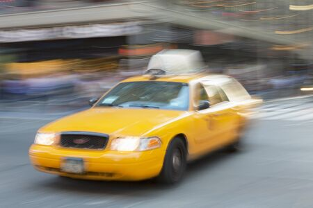 New York City, Yellow Taxi on Times Square