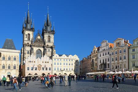 Czech Republic, Old Town Square with Ten church, Prague