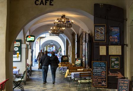 Prague, Arcades at Malostranske namesti 新聞圖片