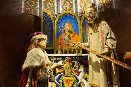 Scotland, Edinburgh Castle, Royal Palace, King James IV receives sword of State