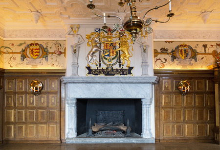 Room in Royal Palace,  Edinburgh Castle,  Scotland.