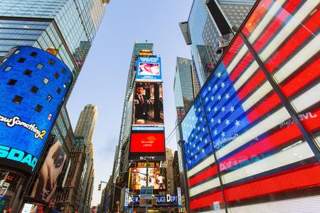 New York city, Times square illuminated by night 新聞圖片