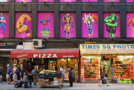 New York City, shopping street