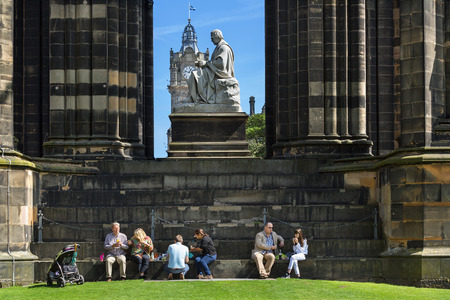 Scotland, Edinburgh, Walter Scott Monument in Scotland