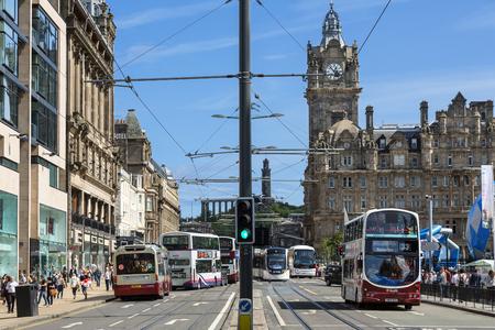 Scotland, Traffic on Princes Street, Edinburgh Princes Street