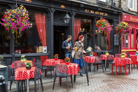 Scotland, Edinburgh, Cafe in Rose Street 新聞圖片