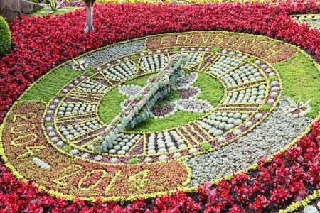 Edinburgh, Flower clock at Princes street princes