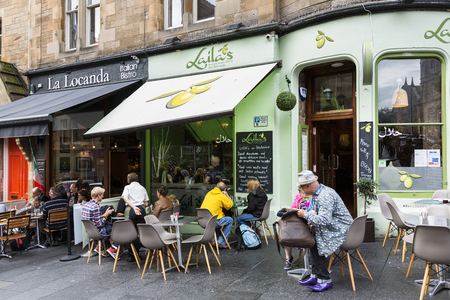 Scotland, Bank Street in Edinburgh