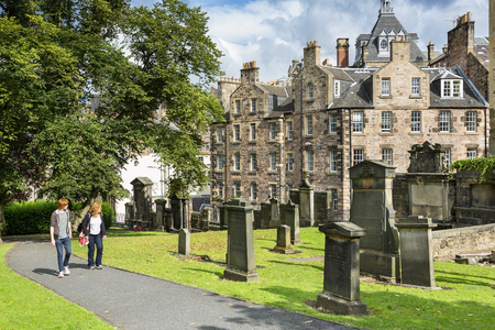 Greyfriars kirkyard is the burial place of many famous Edinburgh residents, none more so than Greyfriars Bobby the dog who slept on the grave of his master, Auld Jock Gray, for 13 years.