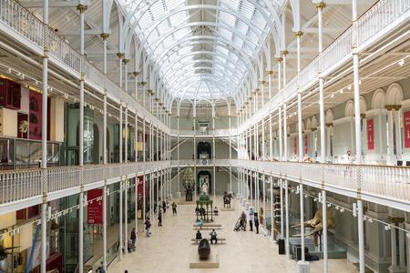 Grand Gallery, National Museum of Scotland, Edinburgh, Edinburgh, Scotland. 新聞圖片