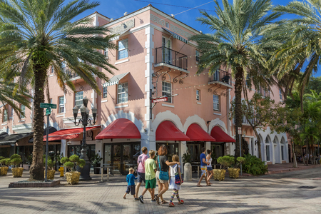 Espanola Way, South Beach, Miami, USA 新聞圖片
