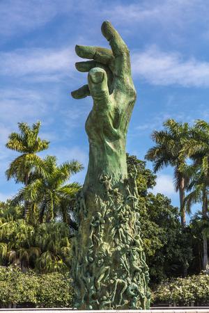 Miami,  'Love and Anguish' sculpture, Holocaust Memorial, South Beach