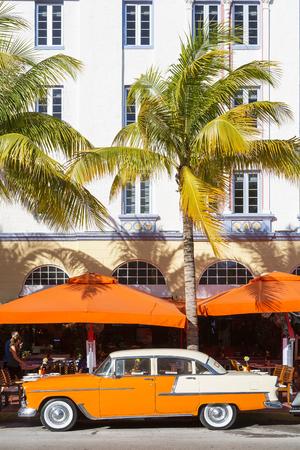 Miami, South Beach, Taxi on Ocean Drive