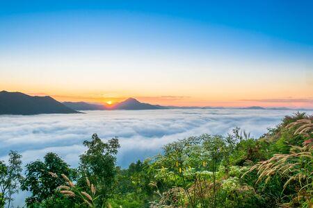 khan: Sunrise at Phu tok, Chiang Khan, Loei , Thailand Stock Photo