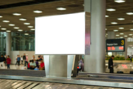blank advertising billboard at airport background large LCD advertisement