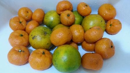 � fond: Orange a �t� lav� soigneusement