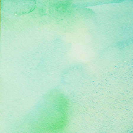 abstract paintings: green hand drawn abstract watercolor background for design