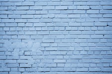 Blau gefärbte Grunge-Backsteinmauer strukturierte Oberfläche