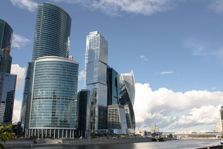 megalopolis: Buildings of Moscow City Stock Photo