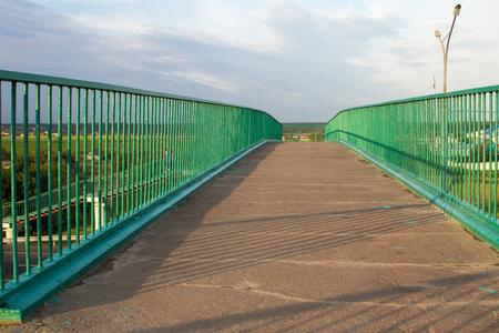 elevated walkway: an outdoor elevated walkway