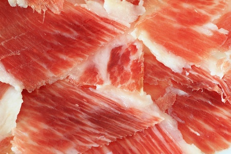 jamon: serrano ham background closeup