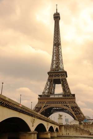 The Eiffel Tower in Paris, France Stok Fotoğraf