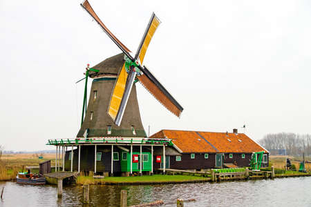 Windmill at zaanse schans Stock Photo - 13286236