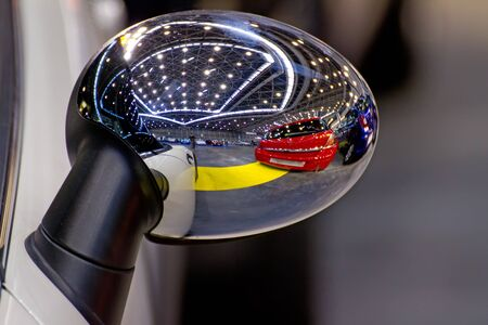rearview: rear-view mirror Stock Photo