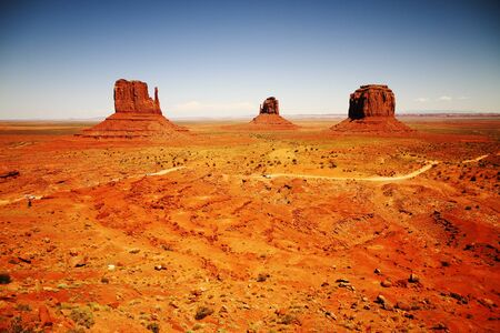 navajo land: The three sisters, monument valley