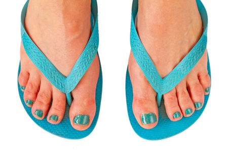woman feet for summer Stock Photo