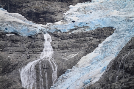 Blue Glacier in Norway Stock Photo - 13873819