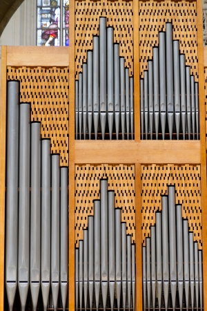 Church organ Stock Photo