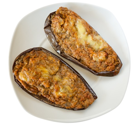 egg plant: stuffed egg plant