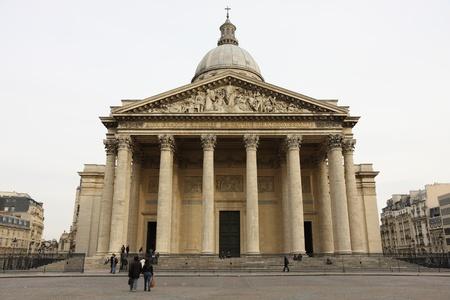 pantheon: Paris Pantheon Facade  2 Stock Photo