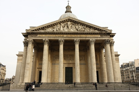 Paris Pantheon Facade Editorial