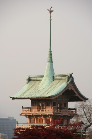 Japanese temple roof photo