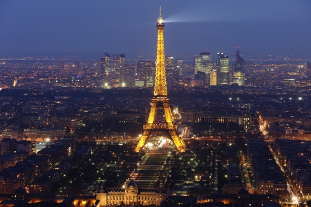 paris at night: Eiffel tower by night  4