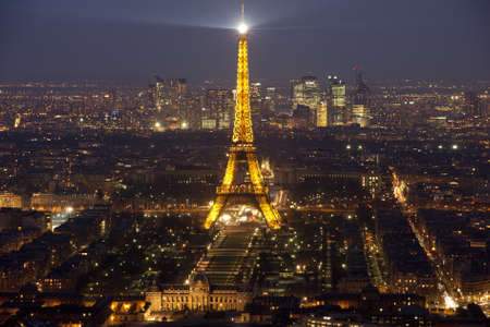 Eiffel tower by night   Editorial