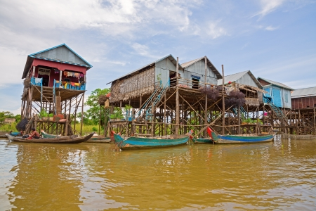 Floating village Imagens