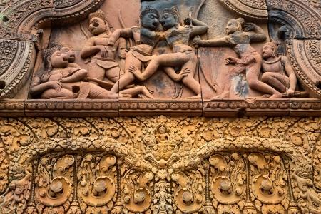 Banteay Srei Wat embossing