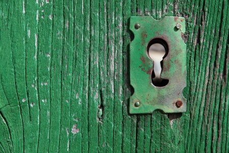 architectural feature: Old Keyhole Stock Photo