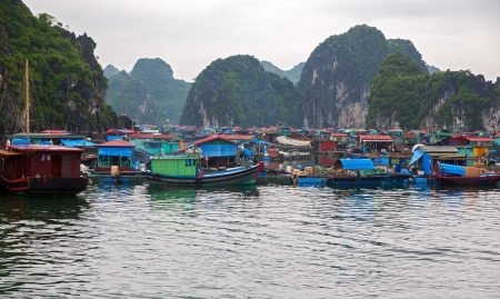 Floating fishing village photo