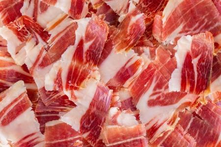 jabugo jambon plaque de gros plan