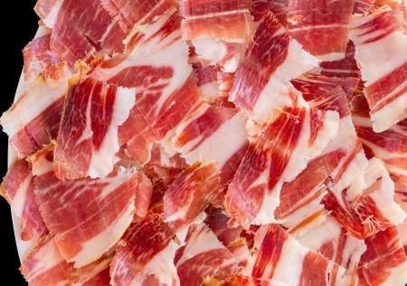 ham: jabugoham plaat close-up Stockfoto