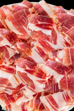 jabugo ham plate closeup